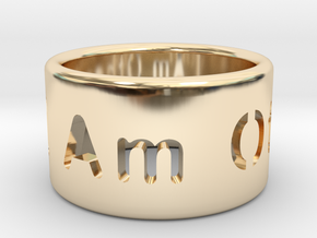 I Am Other Ring in 14k Gold Plated Brass: 7 / 54