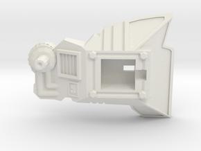 POTP Volcanicus Thigh Armor - Left in White Natural Versatile Plastic