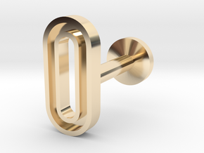 Letter O in 14k Gold Plated Brass