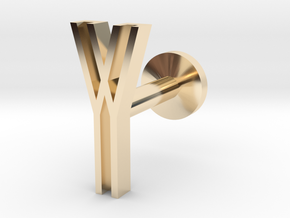 Letter Y in 14k Gold Plated Brass