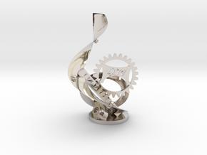 LETU Swag Statue - LETU 3D Printing in Rhodium Plated Brass