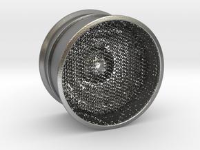 RC Car Rim 1:14 Hexagonal Grid 03 in Natural Silver (Interlocking Parts)