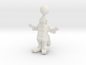 "Clown ""Magic"" mit Kugel - 1:87 (H0 scale) in White Natural Versatile Plastic"