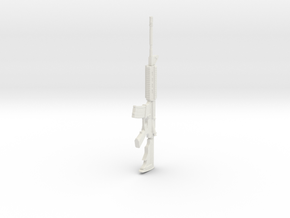 1:6 Miniature M4 Carbine in White Natural Versatile Plastic