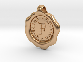 Seal Pendant F in Polished Bronze