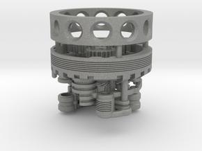 Graflex Mentor - Var1 Part01 - Energy channels S1 in Gray Professional Plastic