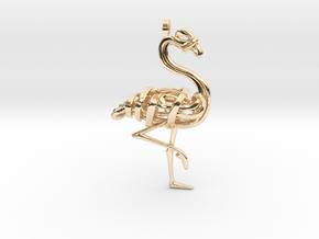 Flamingo Pendant in 14K Yellow Gold