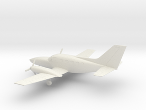 Cessna 414A Chancellor in White Natural Versatile Plastic: 1:64 - S
