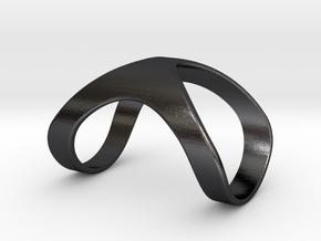 RingFingerSplintShort18-5.8-30mm in Polished and Bronzed Black Steel