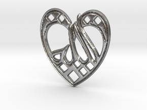 Creator Pendant in Natural Silver