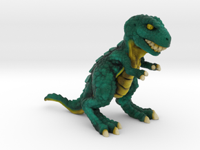 Retrosaur - Mean Green, Full Color in Natural Full Color Sandstone: Small