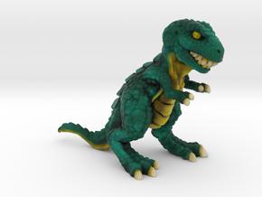 Retrosaur - Mean Green, Full Color in Natural Full Color Sandstone: Small