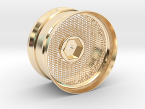 Hexagonal Grid Rim 1:10 Scale in 14k Gold Plated Brass