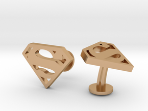 Superman Classic Cufflinks in Polished Bronze
