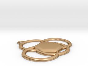 Azlan crest  in Polished Bronze