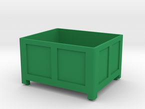 Obst Kiste Box in Green Processed Versatile Plastic