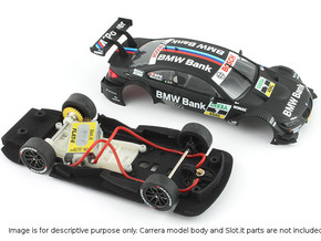 S02-ST1 Chassis for Carrera BMW M3 DTM STD/LMP in Black Strong & Flexible