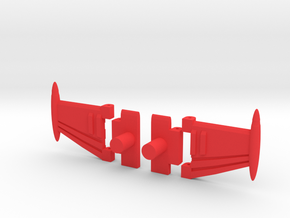 Wings of Ape in Red Processed Versatile Plastic
