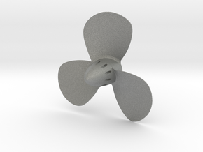 Titanic 3-Bladed Centre Propeller - Scale 1:87 in Gray PA12