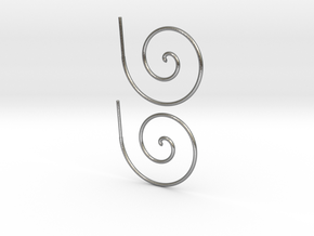 Archimedes Spiral in Natural Silver