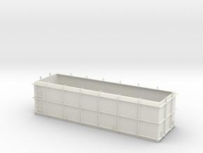 OO Gauge SSA Scrap Wagon Body in White Natural Versatile Plastic