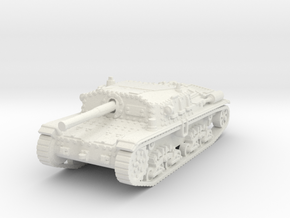 Semovente M42 75/34 1/100 in White Natural Versatile Plastic