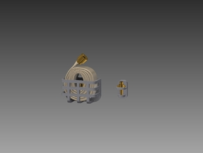 Fire hose and nozzle set 1/48 in Smooth Fine Detail Plastic