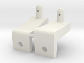 Thundershot Higher Front Body mounts in White Natural Versatile Plastic