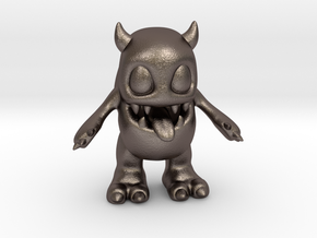Baby Monster Colored_small in Polished Bronzed-Silver Steel