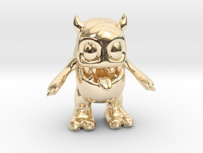 Baby Monster Colored_small in 14K Yellow Gold