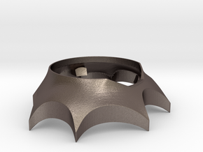 BAT STAND for the Bat Ring Box in Polished Bronzed-Silver Steel