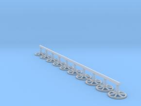 EP44 Brake Wheels for Hornby PGA/PAA agregate hopp in Smooth Fine Detail Plastic