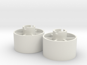 Rear wheel +3,5mm in White Natural Versatile Plastic