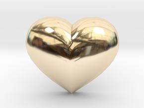 Puffed Heart Earring in 14K Yellow Gold