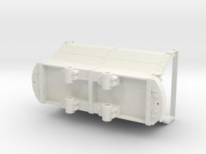 1:20.3 Scale 32mm Gauge Coal Car in White Natural Versatile Plastic