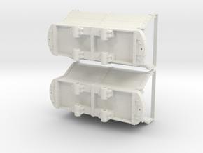1:20.3 Scale 32mm Gauge Coar Car Pair in White Natural Versatile Plastic