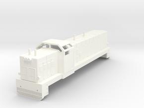 Swedish SJ diesel locomotive type T41- H0-scale in White Processed Versatile Plastic