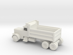 HO Scale Dump Truck in White Natural Versatile Plastic