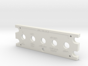 T6 Port Side Test Panel Cover in White Natural Versatile Plastic