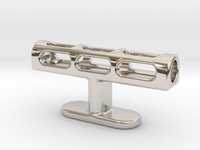 Cufflink Lantern in Platinum