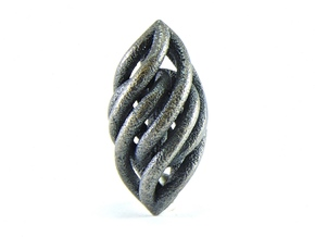 Spiral Pendant in Polished and Bronzed Black Steel