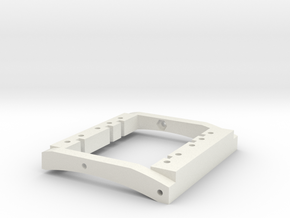 TGH CREEPER DUAL SERVO MOUNT for Standard Axial C- in White Natural Versatile Plastic