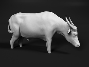 Domestic Asian Water Buffalo 1:60 Stands in Water in Smooth Fine Detail Plastic