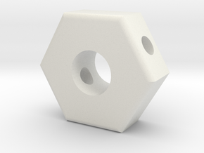 T6 Friction Knob Backing Plate #1 in White Natural Versatile Plastic