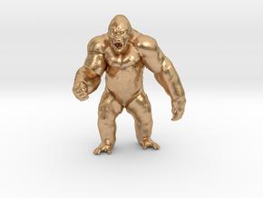 King Kong Kaiju Monster Miniature for games & rpg in Natural Bronze