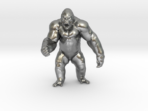 King Kong Kaiju Monster Miniature for games & rpg in Natural Silver