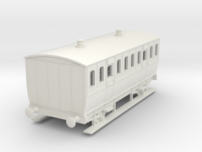 0-87-mgwr-4w-3rd-class-coach in White Natural Versatile Plastic