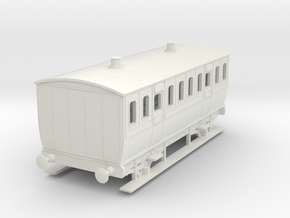 0-97-mgwr-4w-3rd-class-coach in White Natural Versatile Plastic