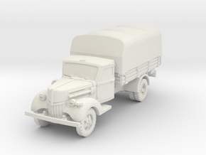 Ford V3000 early (covered) 1/87 in White Natural Versatile Plastic