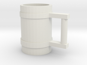 Drinking Stein 01 in White Natural Versatile Plastic